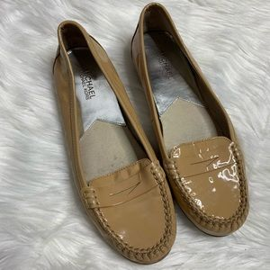 MICHAEL Michael Kors• Tan Patent Loafers